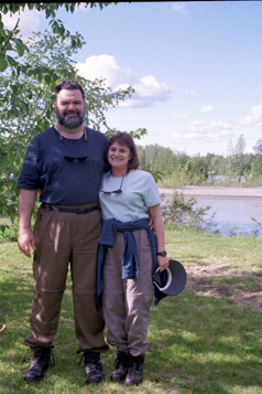 Holly with her Husband John Braschi while on assignment in Alaska for Sunset Magazine's Safeway Select