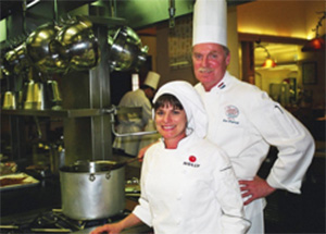 Holly studying at the Culinary Institute of America Greystone with Instructor Chef Ken Woytisek.
