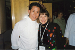 Holly with Chef Martin Yan